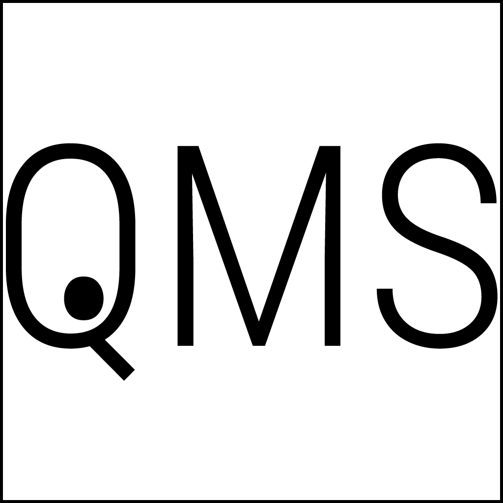 Visual QMS icon, with a Stylized Eye for a Q to symbolize the Visual Appeal of this modern Quality Management System.